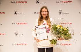 Delia Sclabas (LG Bern / SKBE), BÄRNCHAMPION Kategorie «Nachwuchssport»